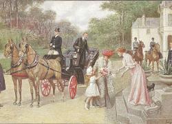 Pocztówka ze zbiorów Muzeum Powozów Galowice